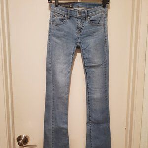 Armani Exchange Faded Blue Skinny Boot Jeans